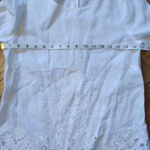 J. Crew Tops - J. Crew Linen Embroidered Top
